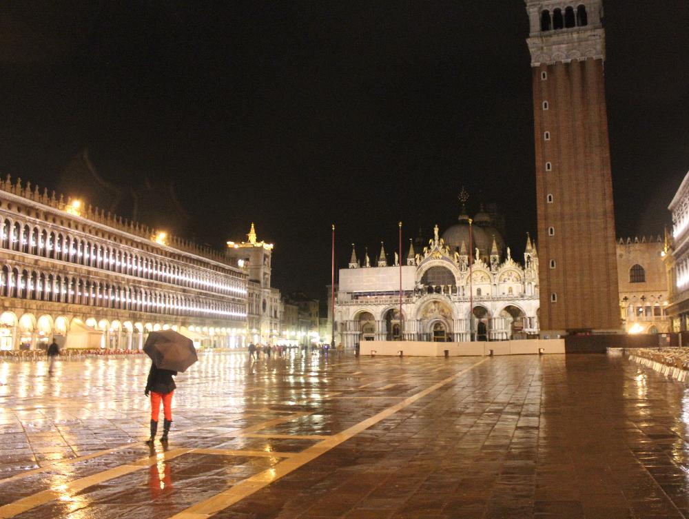 St. Mark's Square at Night, Venice, Italy
