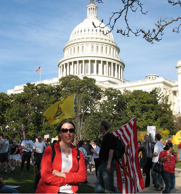 Photo of student outside on US Capitol grounds